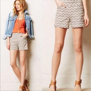 Anthropologie Cartonnier Shorts zig zag print Sz 8